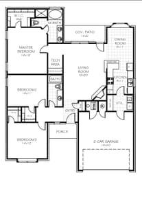 Floor Plan Flip. 9100 SW 47th Street, Oklahoma City, OK