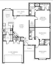 Floor Plan Standard. New Home in Oklahoma City, OK