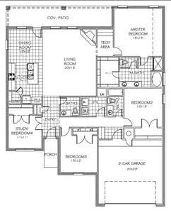 The Opal Elite - 4 bedroom new home in Bixby OK