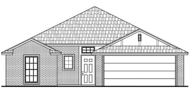 1,532sf New Home Elevation B