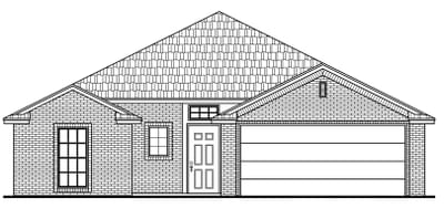 1,532sf New Home Elevation C
