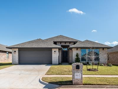 1012 Hickory Creek Drive Yukon OK new home for sale
