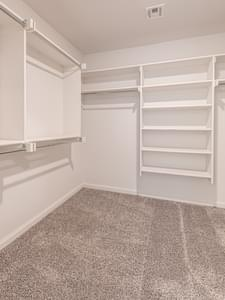 Master Closet. Brooke Elite Home with 3 Bedrooms