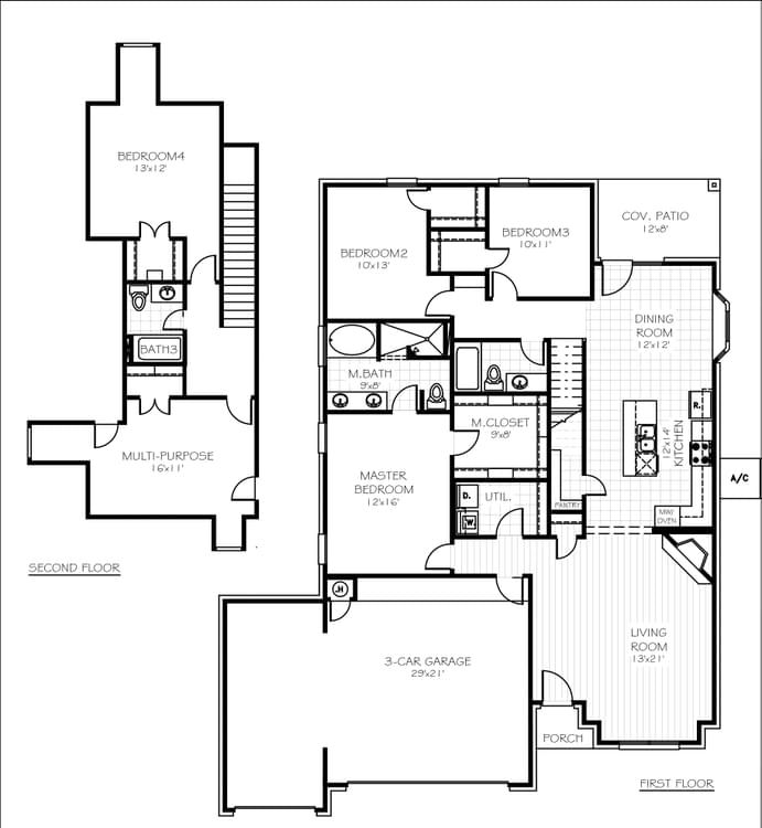 Cameron Plus Elite 3-car Oklahoma Home Floorplan
