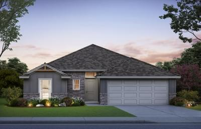 1,460sf New Home Elevation C
