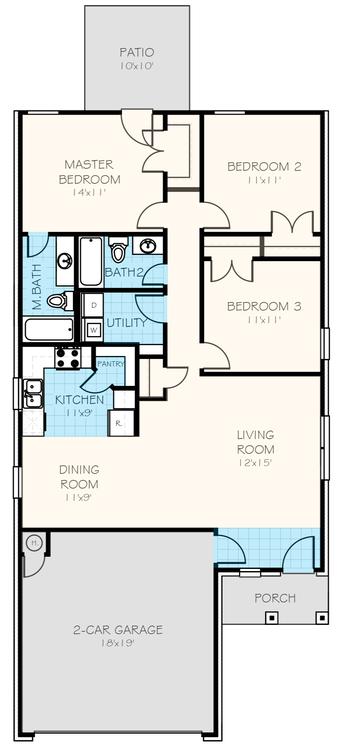 The Carnation Floorplan