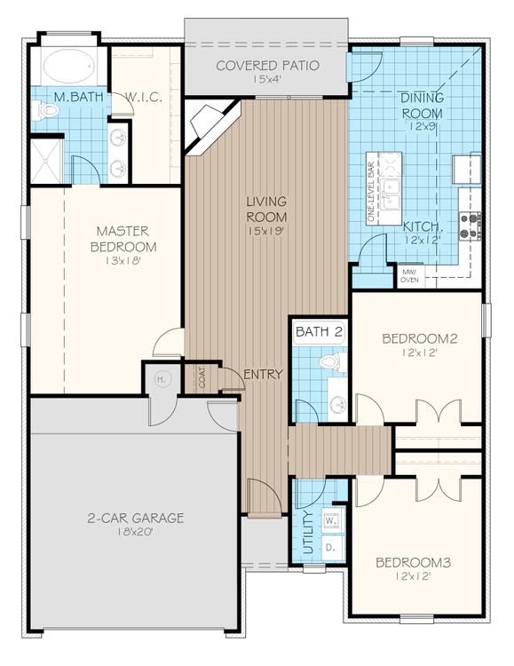 Andrew Plus Elite Oklahoma Home Floorplan