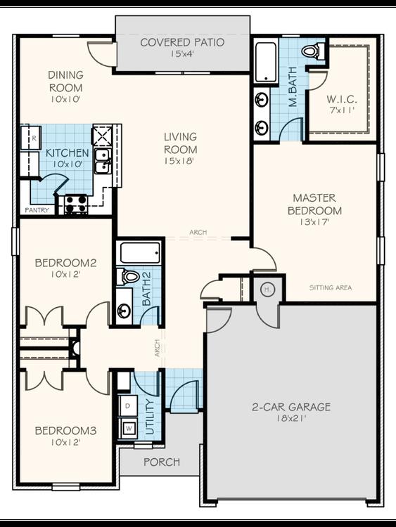 The Jackson Floorplan