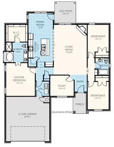 Brooke Elite New Home Floor Plan