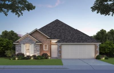 1,543sf New Home Elevation B