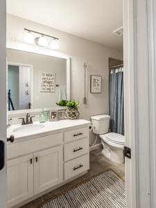 Bathroom . Castleberry New Homes in Edmond, OK