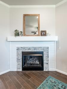 Fireplace. New Homes in Edmond, OK