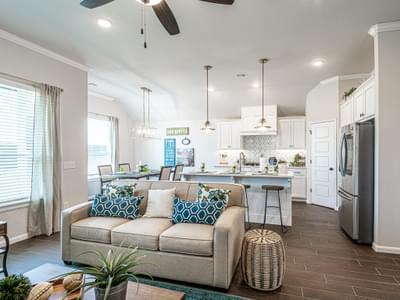 Living Room. Edmond, OK New Homes