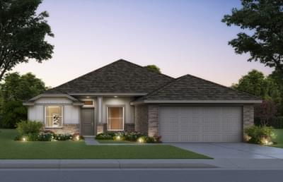 1,722sf New Home Elevation A