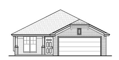 Elevation B. Cooper New Home in Norman, OK Elevation B