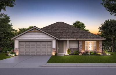 Elevation B. 3br New Home in Newcastle, OK