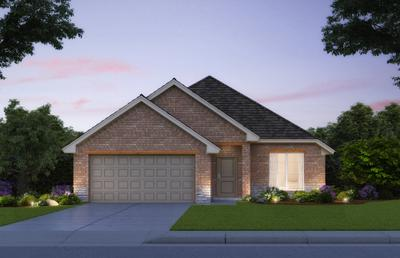 Elevation A. 1,719sf New Home in Piedmont, OK