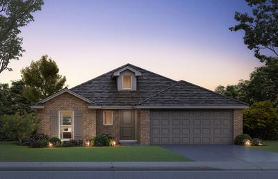 Elevation B. Andrew Home with 3 Bedrooms