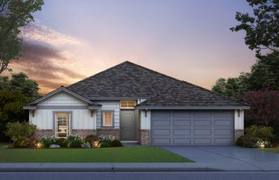 Elevation C. Andrew Home with 3 Bedrooms