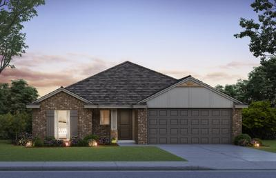 Elevation B. Bradford Home with 3 Bedrooms