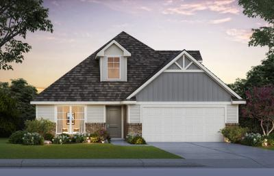 Elevation B. 2,440sf New Home in Midwest City, OK