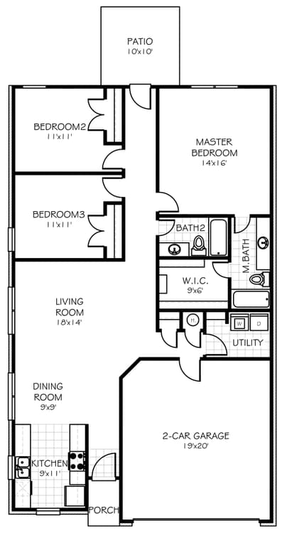Floorplan Standard The Aspen Floorplan