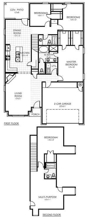 Floorplan Standard The Reagan Plus Floorplan