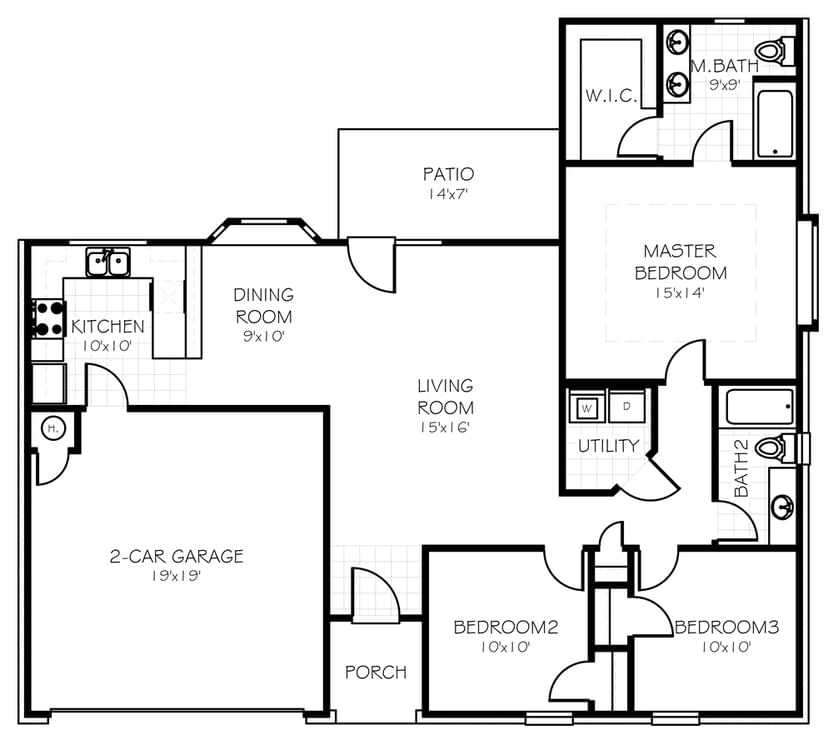 Floorplan Flip The Leeshire Floorplan
