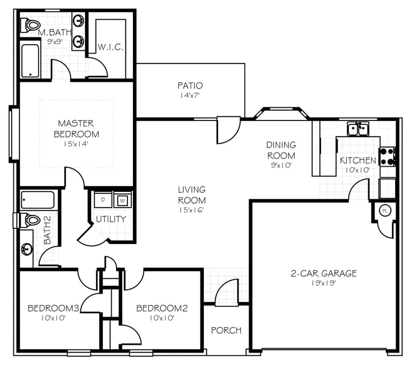 Floorplan The Leeshire Floorplan