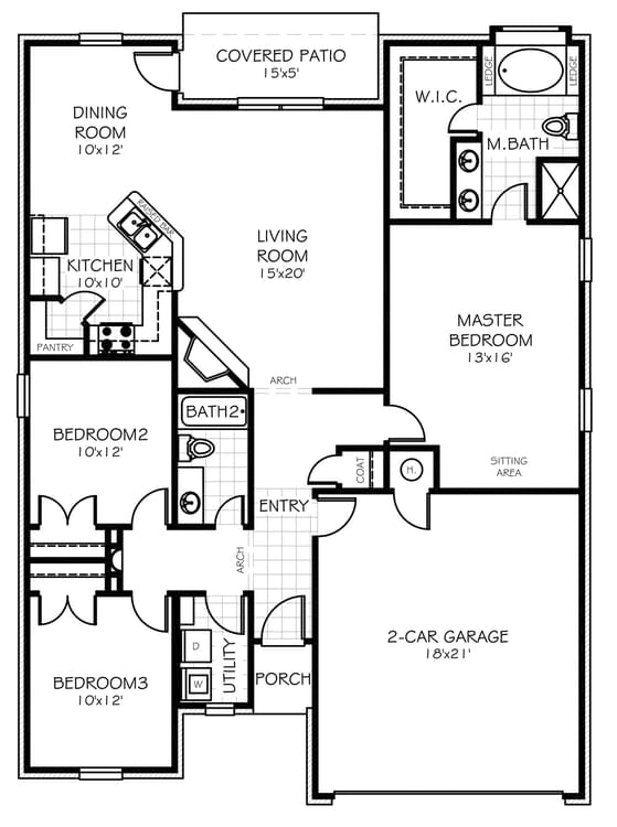 Floorplan Standard The Adams Elite Floorplan