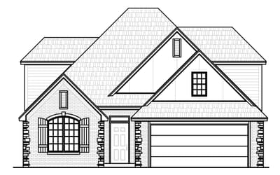Elevation A. 2,513sf New Home in Bixby, OK Elevation A