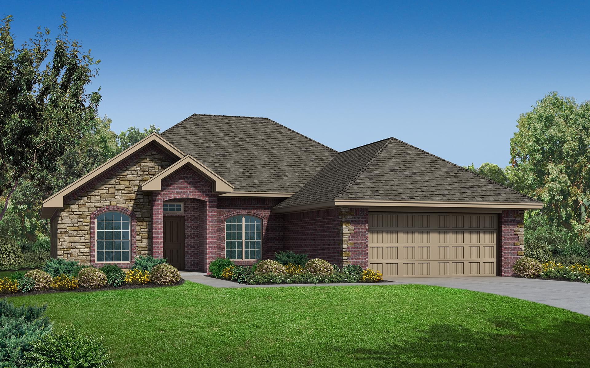 The brooke elite new home in edmond ok from home creations for Elite home designs