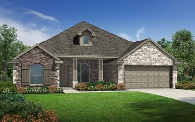 Elevation B. 4br New Home in Bixby, OK Elevation B