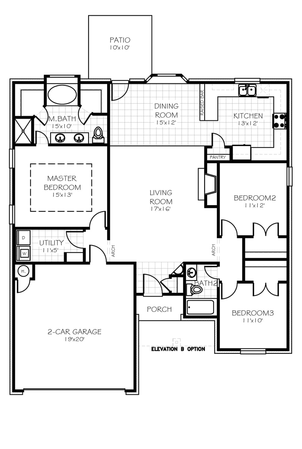 100 Garage Home Floor Plans Home Floor Plans With