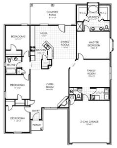 Floorplan. Bixby, OK New Home