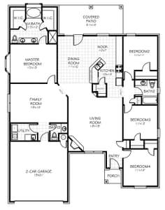 Floorplan Flip. 4br New Home in Bixby, OK