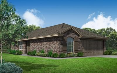 Elevation A. 3br New Home in Oklahoma City, OK Elevation A