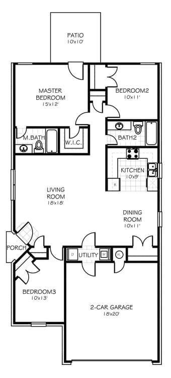 Floorplan Standard The Azalea Floorplan