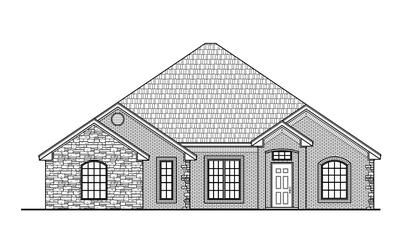 Elevation A. Brookside Elite New Home Floor Plan Elevation A
