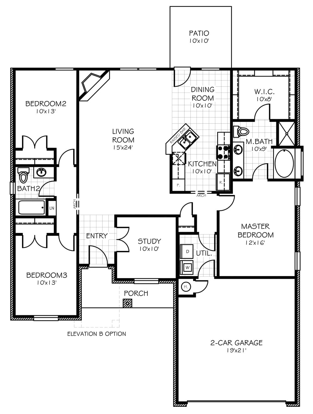 Ashley Oklahoma Home Floorplan