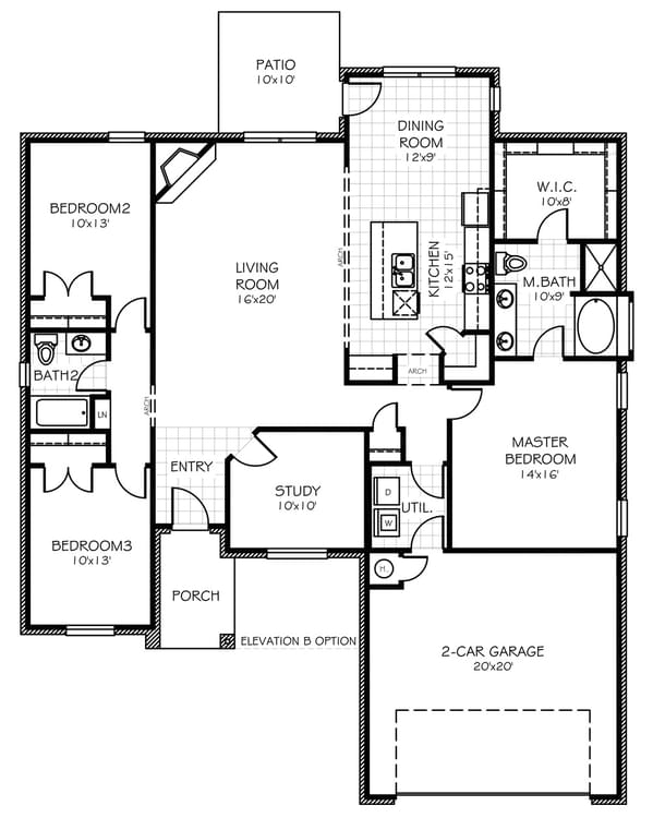 Floorplan Standard The Brooke Floorplan
