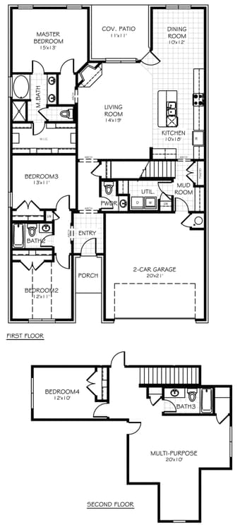 Floorplan Standard The Buchanan Floorplan