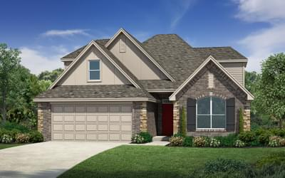 Elevation A. 4br New Home in Broken Arrow, OK Elevation A