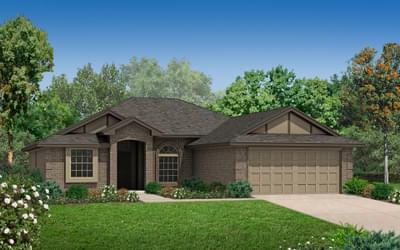 Elevation C. Carter Home with 3 Bedrooms Elevation C