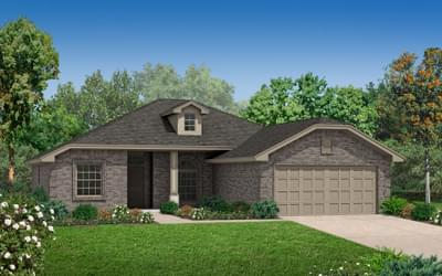Elevation B. Carter New Home Floor Plan Elevation B